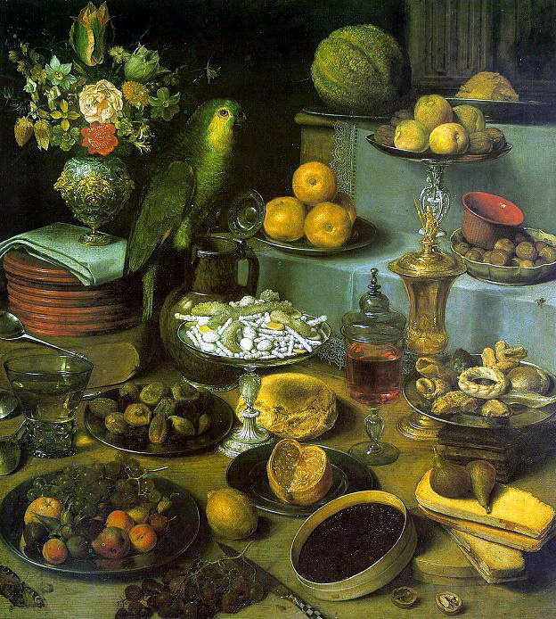 Georg Flegel. Still life with a parrot