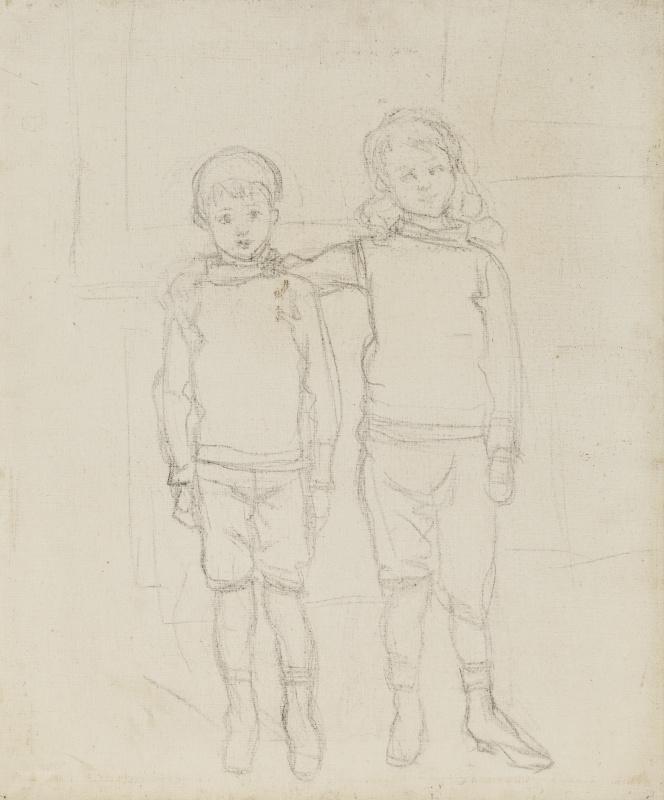 Клод Моне. Мишель Моне и Жан-Пьер Ошеде стоящие плечом к плечу