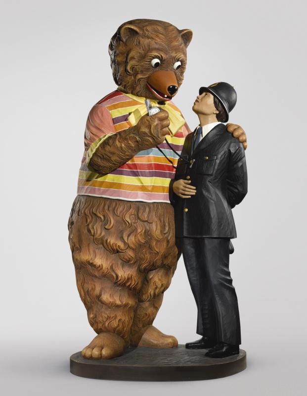 Jeff Koons. Bear and policeman