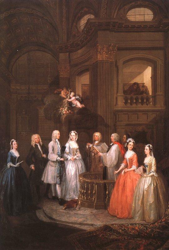 William Hogarth. The wedding of Stephen Buckingham and Mary Cox