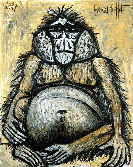 Бернар Бюффе. Orang-outan femelle