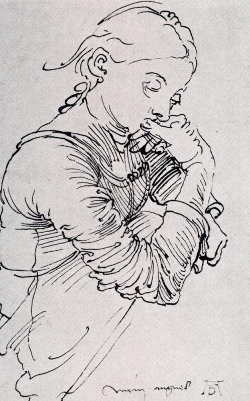 Albrecht Durer. Portrait of the artist's wife