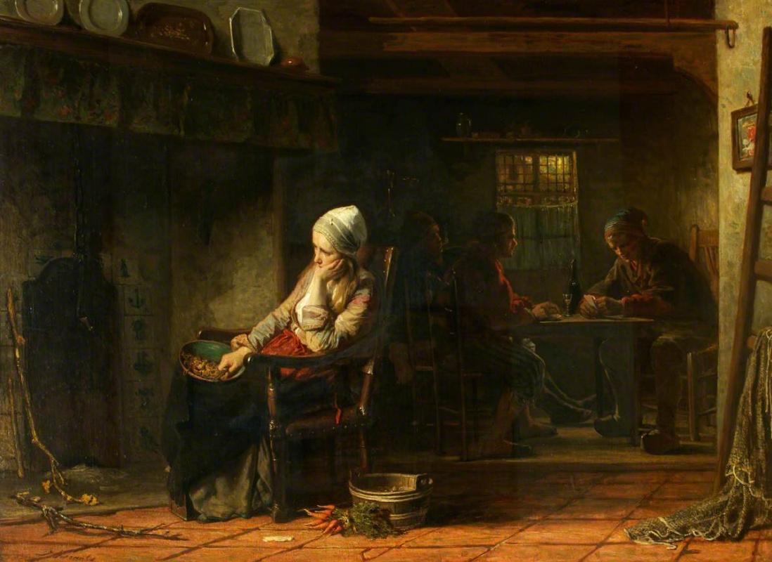 Joseph Israel. Women's sadness (Unhappy)