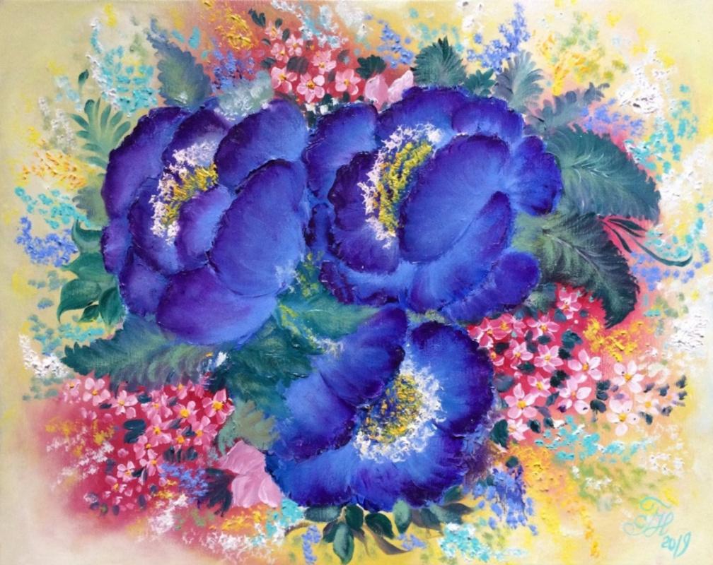 Галина Николаевна Силина. BLUE FLOWERS.