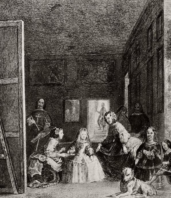 """Франсиско Гойя. """"Менины"""", с картины Веласкеса"""