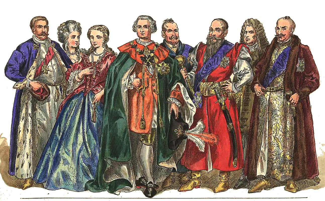 """Ян Матейко. Польские магнаты 1697 - 1795. """"Польская одежда, 1200 - 1795 г.г."""""""