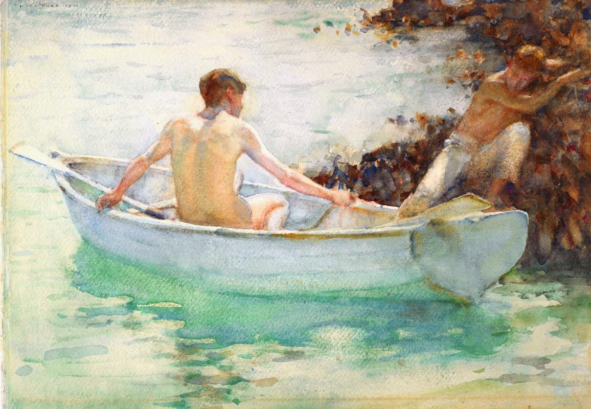 Tuke Henry Scott. 1858-1929. The embarcation, 1911