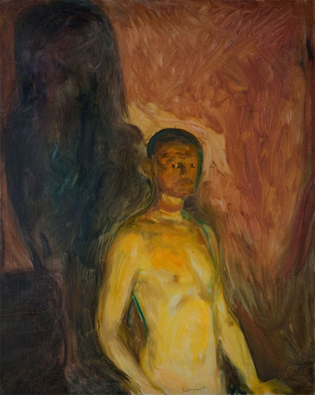 Edvard Munch. Self portrait in hell