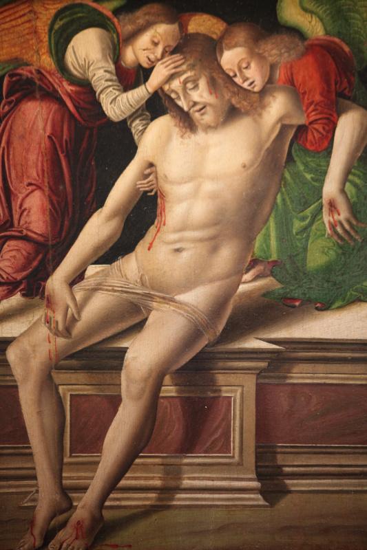 Джованни Санти. Мертвый Христос, поддерживаемый двумя ангелами