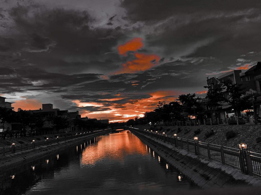 Edgar Degas. Sunset On The Long River