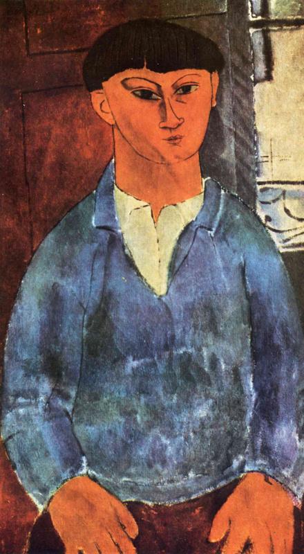 Амедео Модильяни. Портрет Моиса Кислинга на фоне окна
