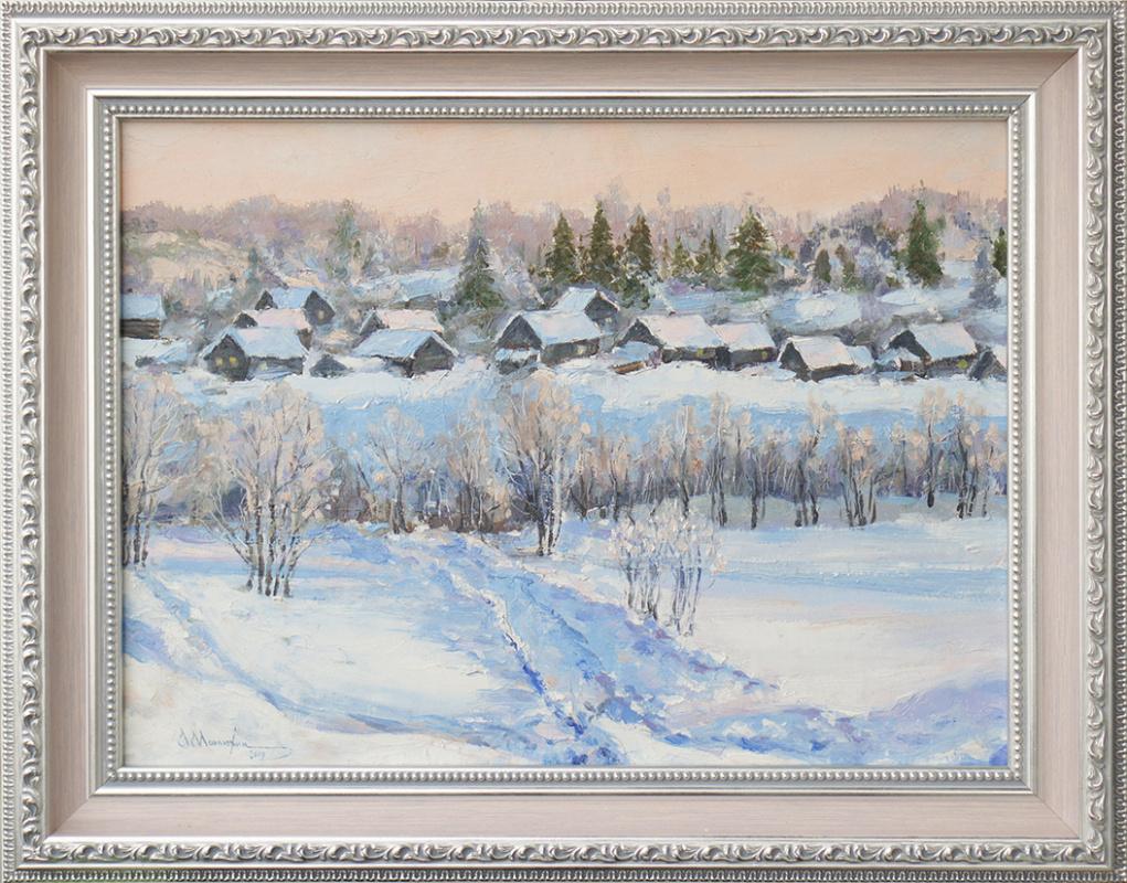 Alexander Matyukhin. Village (30x40 cm)