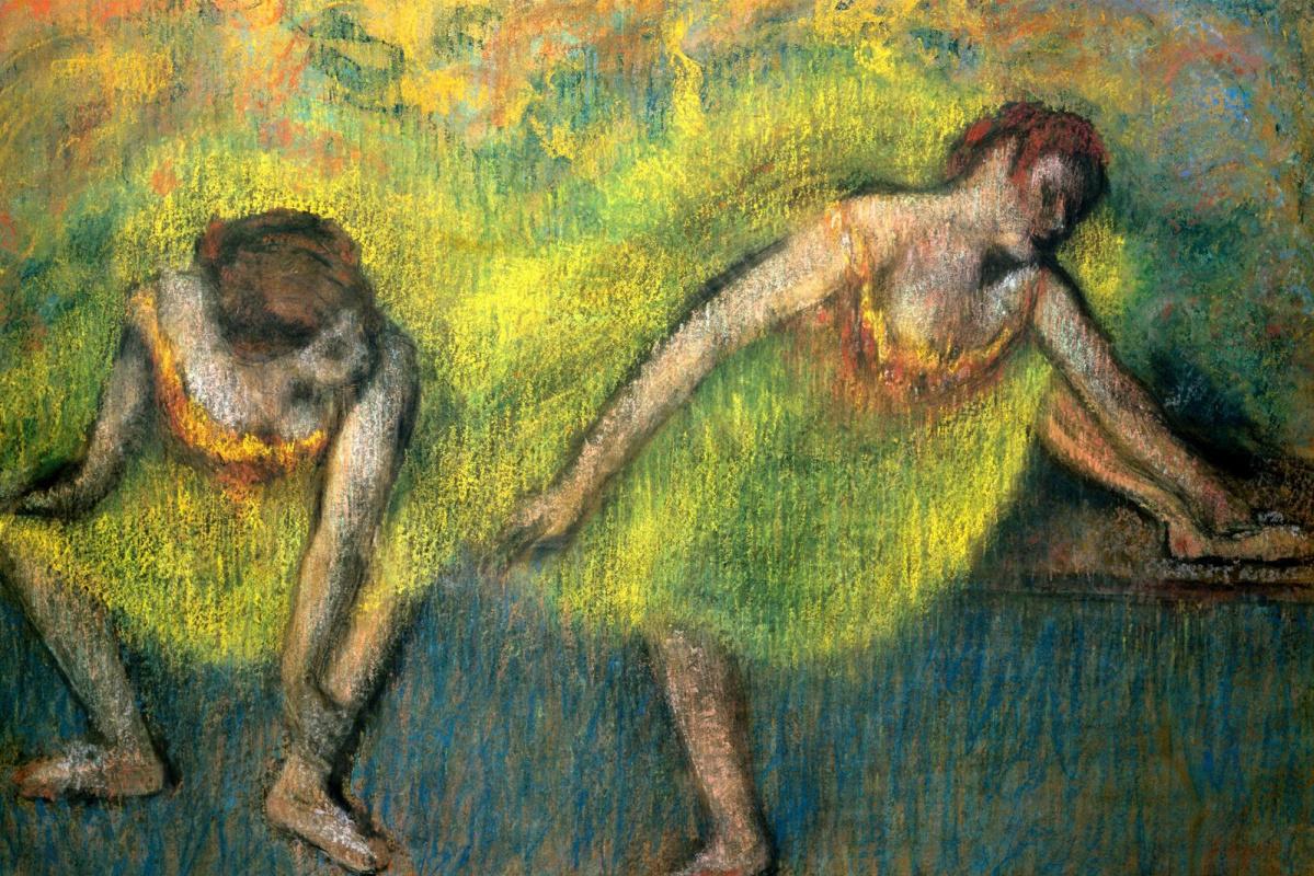Эдгар Дега. Две танцовщицы отдыхают