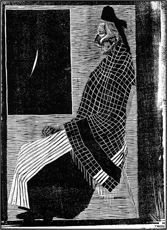 Мауриц Корнелис Эшер. Сидящая пожилая женщина