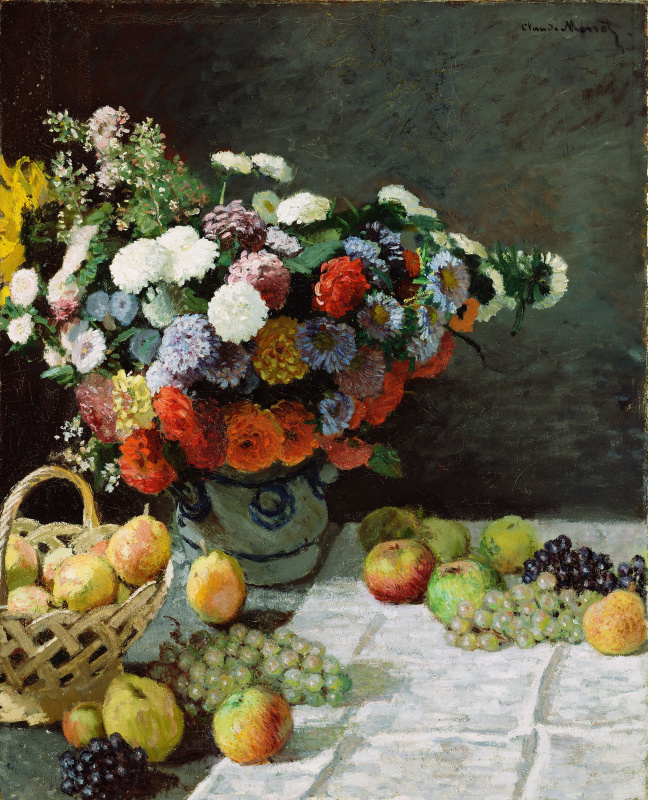 Claude Monet. Flowers and fruits