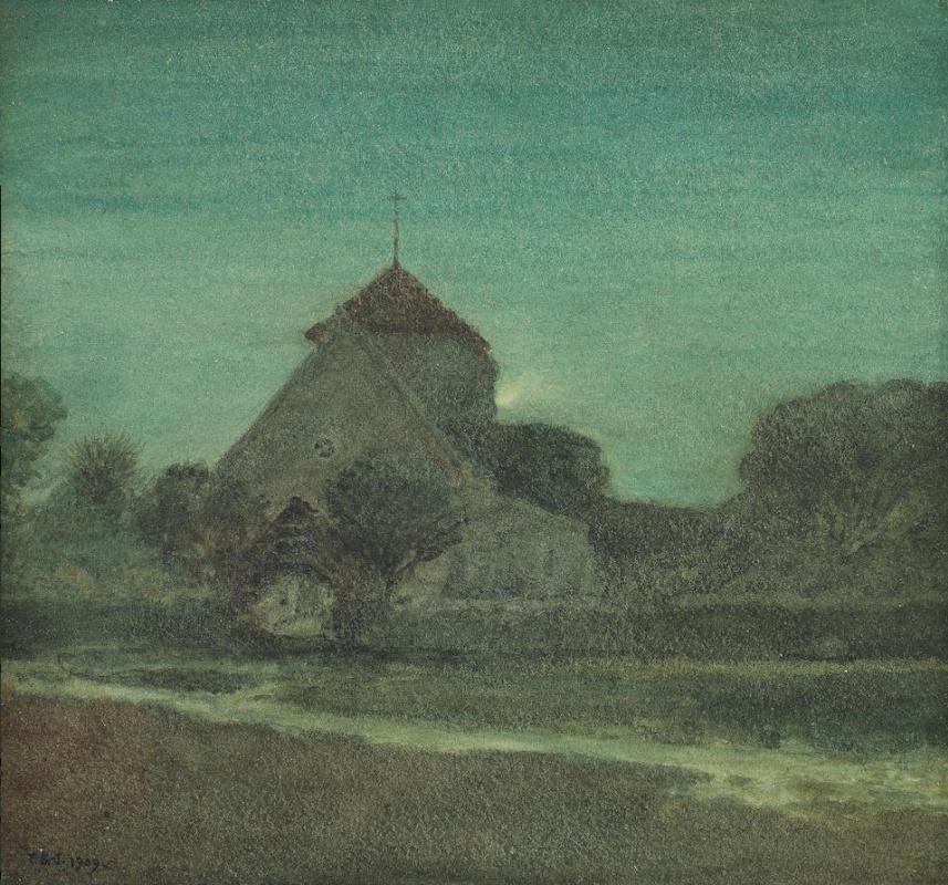 Филипп Бёрн-Джонс. Деревенская церковь, Роттингден