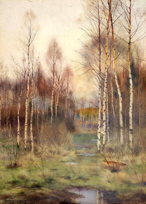 Ричард Александрович Берггольц. Лесной пейзаж