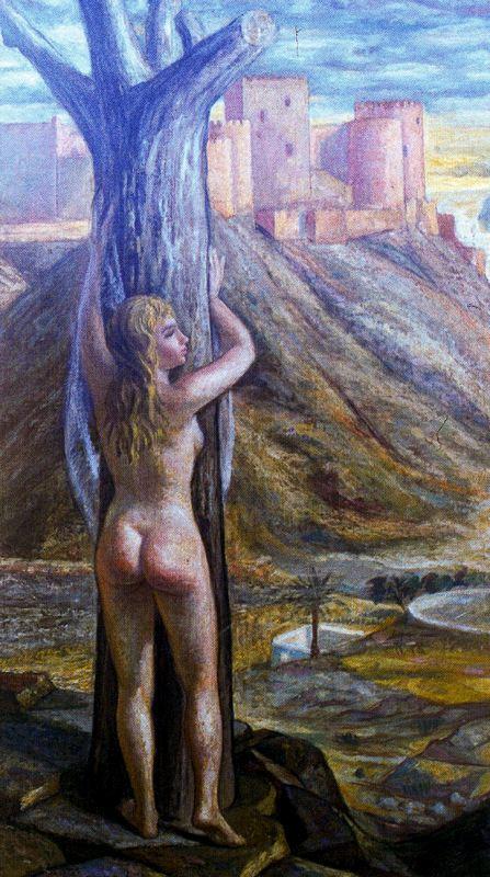 Иисус де Персеваль. Обнаженная девушка у дерева