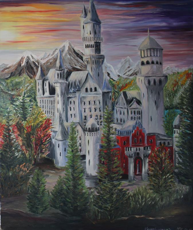 Яна Котт. Замок Neuschwanstein