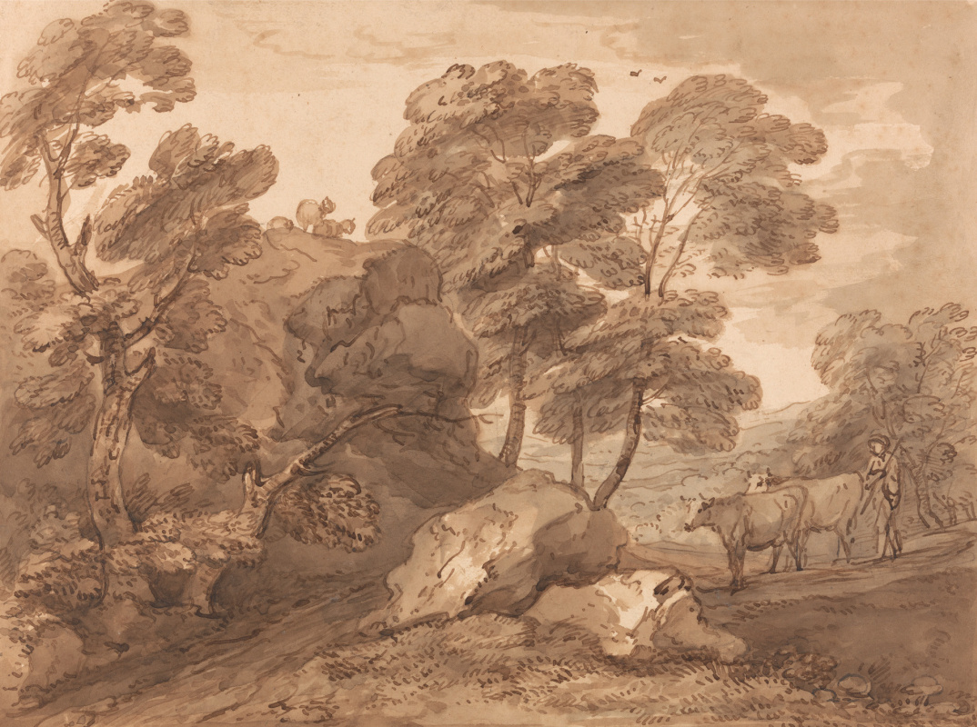 Thomas Gainsborough. Forest landscape with cows