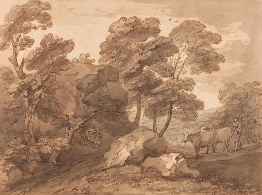 Томас Гейнсборо. Лесной пейзаж с коровами