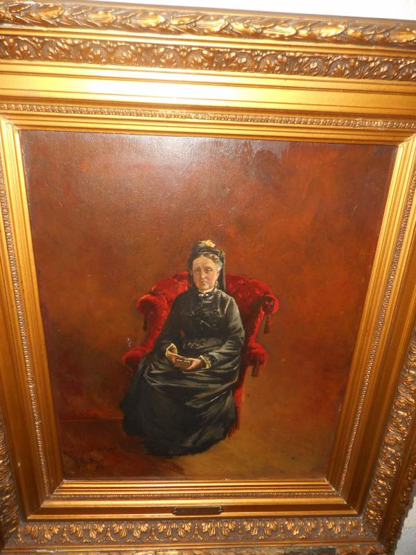 "Pierre Jules NEUKENS (1845-1922). ""Woman in the chair"""