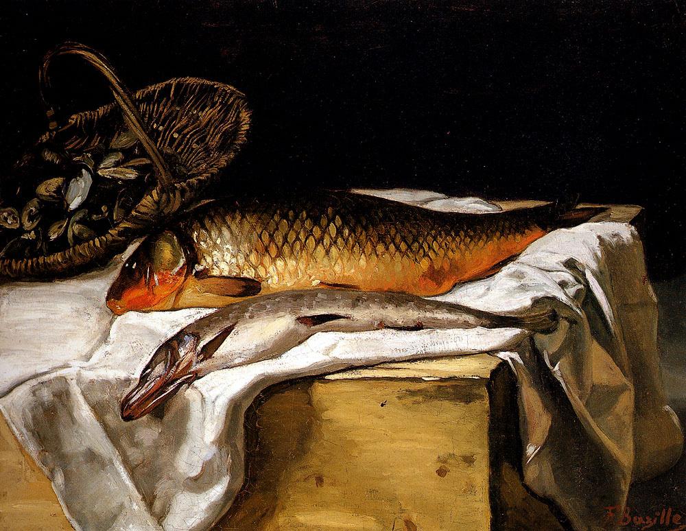 Фредерик Базиль. Натюрморт с рыбой