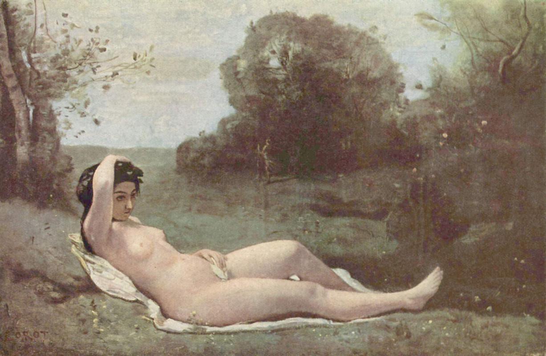 Камиль Коро. Девушка в зелёном
