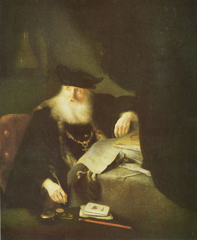 Ян Ливенс. Ученый за столом