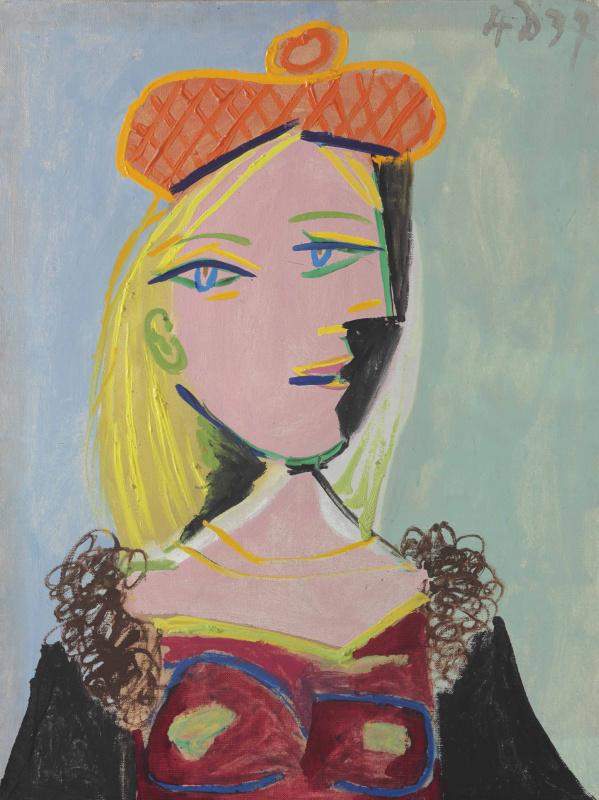 Пабло Пикассо. Женщина в оранжевом берете и с меховым воротником (Мария-Тереза)