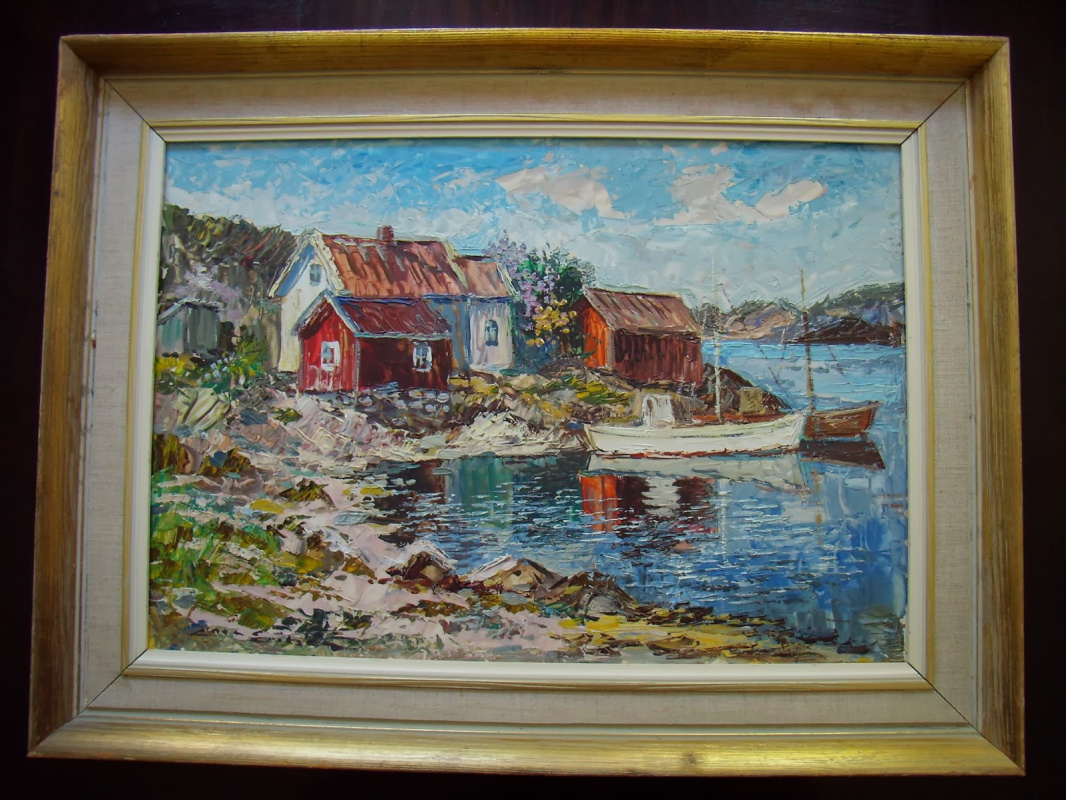 Unknown artist. Landscapes of Norway.