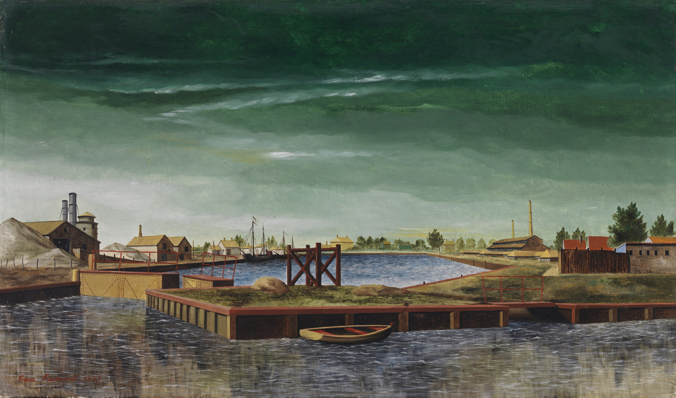 Franz Radziwill. Lime Works at Varel Harbour
