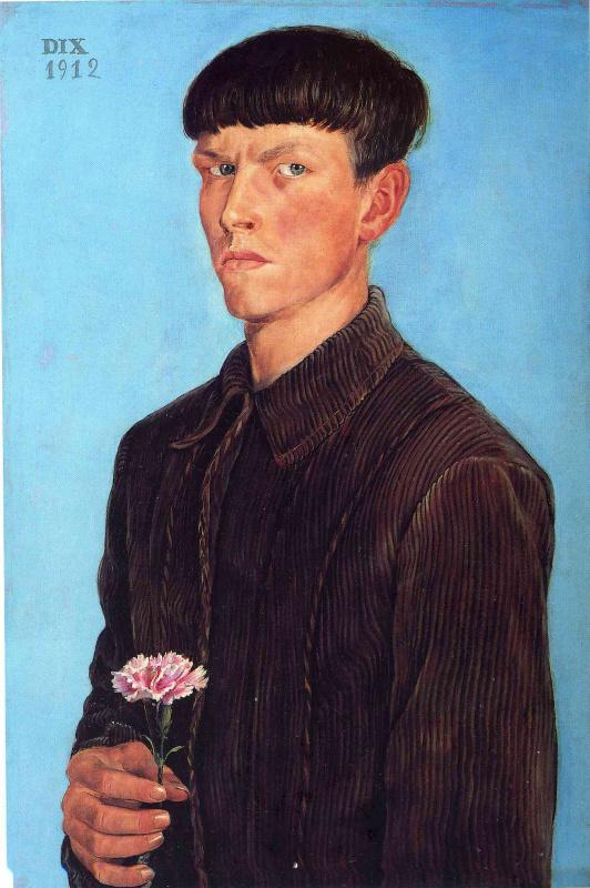 Otto Dix. Self-portrait