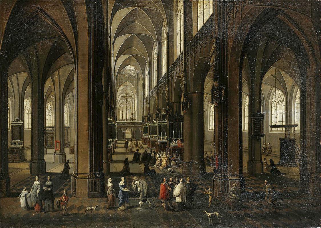 Питер Младший Франкен, Франс III Неффс. Интерьер антверпенского собора