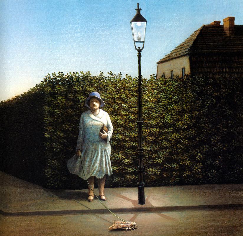 Михаэль Сова. Женщина с молью