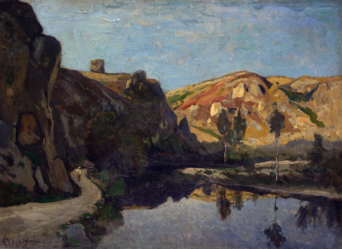 Анри-Жозеф Харпигниес. Река и холмы