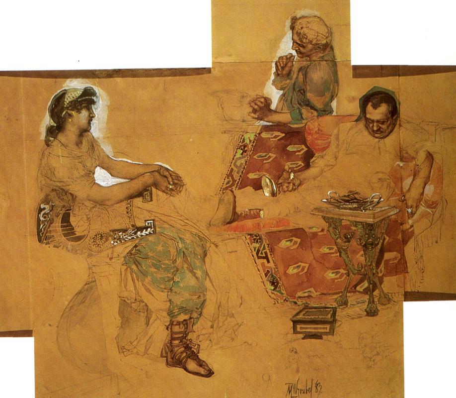 Михаил Александрович Врубель. Пирующие римляне