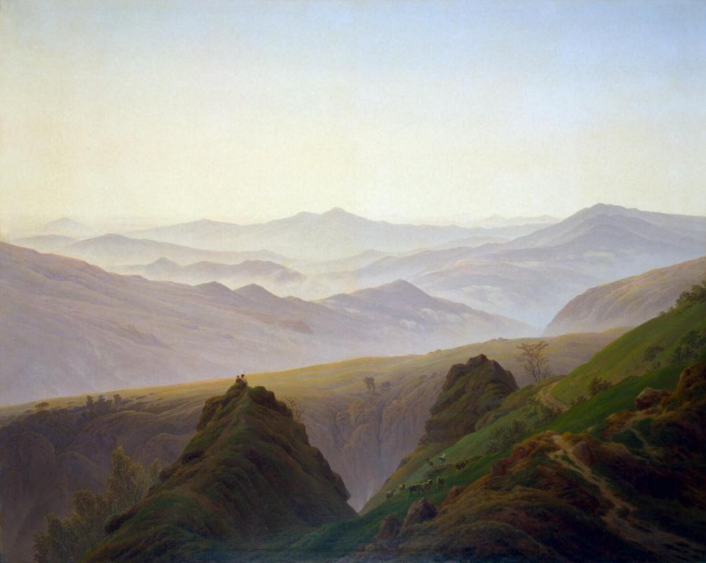 Каспар Давид Фридрих. Утро в горах