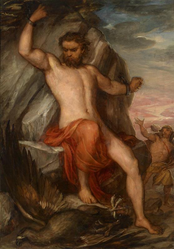 Карл  Раль. Прометей, прикованный к скале