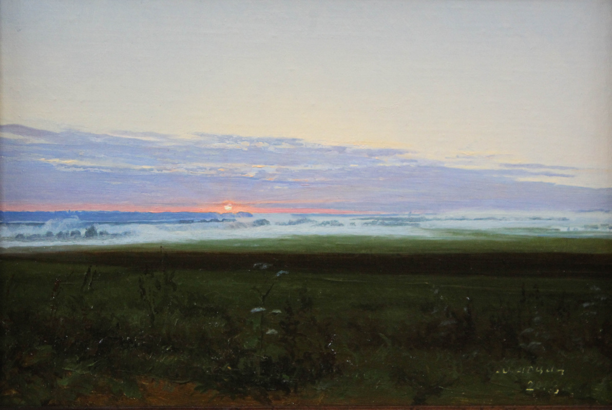Gennady Shotovich Bartsits. Misty morning, Moscow region