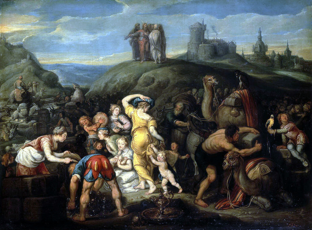 Simon de Vos. The Israelites after crossing the red sea