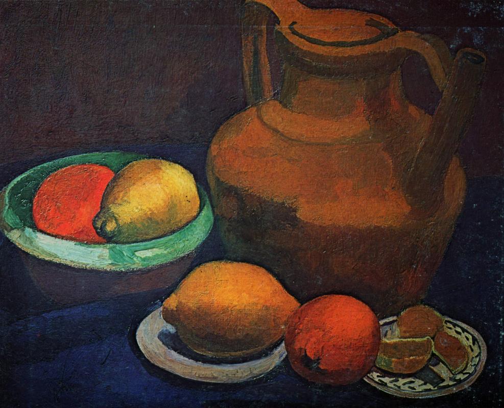 Паула Модерзон-Беккер. Натюрморт с глиняным кувшином