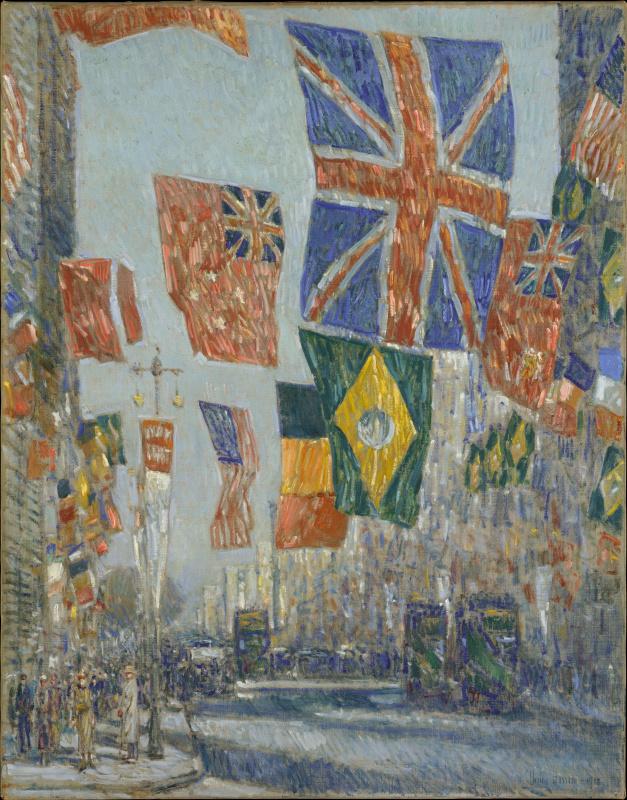 """Чайльд Гассам. Аллея союзников, Великобритания (серия """"Флаги"""")"""