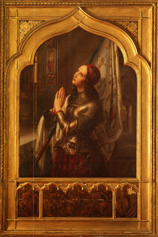 Жанна д'Арк в молитве