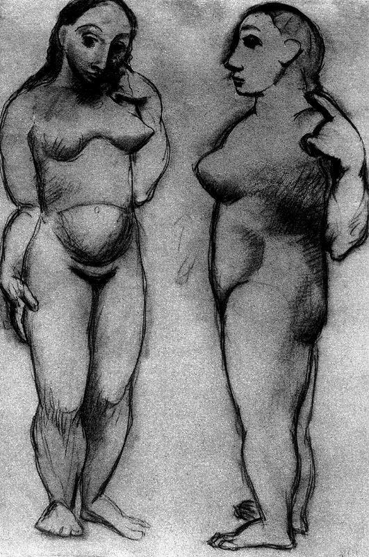 Пабло Пикассо. Две африканские женщины