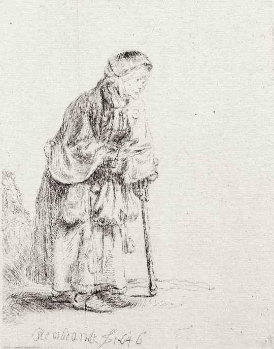 Рембрандт Ван Рейн. Старая нищенка