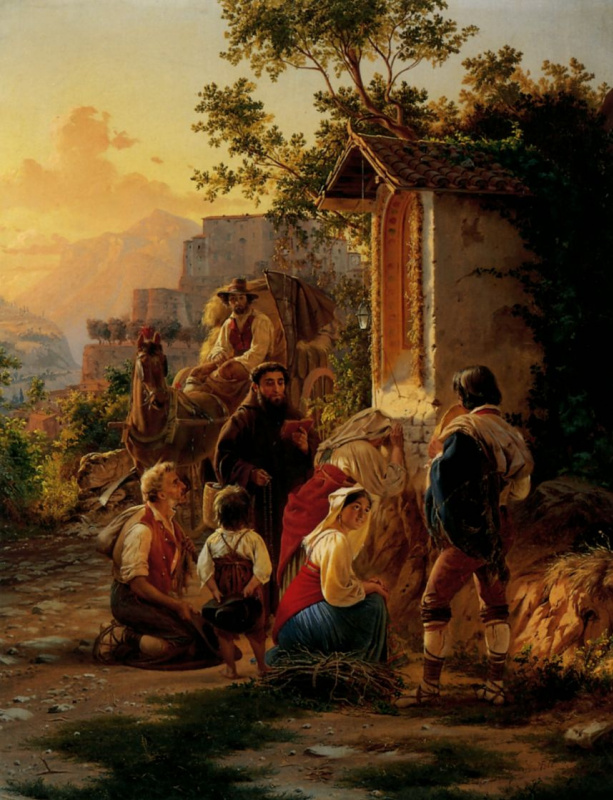 Fedor Andreevich Bronnikov. At the chapel