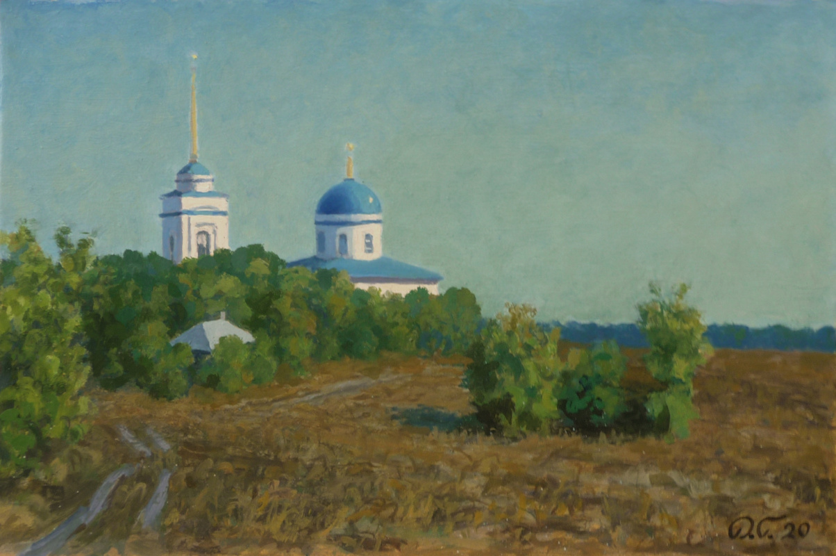 "Denis Aleksandrovich Glindeman. Sunday morning. Church of the Icon of the Mother of God ""Burning Bush"""