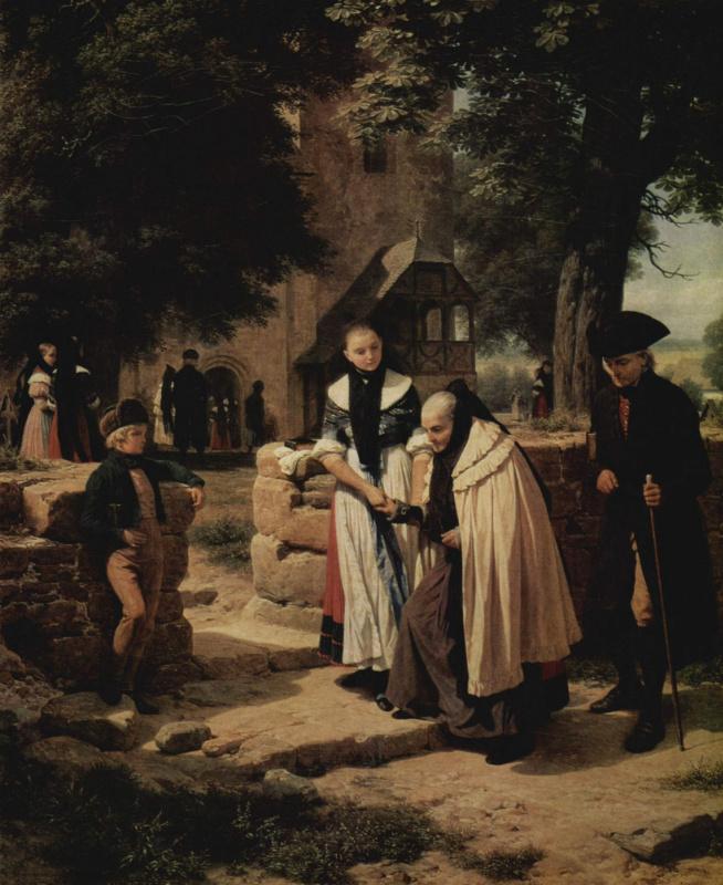 Брауншвейгские крестьяне во время посещения церкви