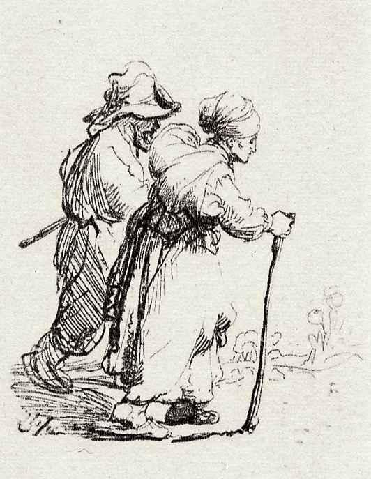 Рембрандт Ван Рейн. Странствующая нищая пара